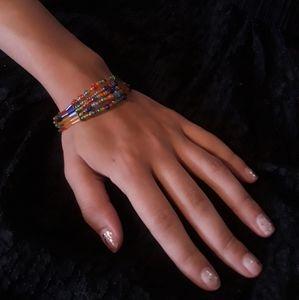 Beaded Bracelet Rainbow Colors